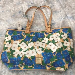 Dooney & Bourke Large Blue flower tote purse